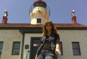 The author visiting Battery Point Lighthouse, Crescent City, CA